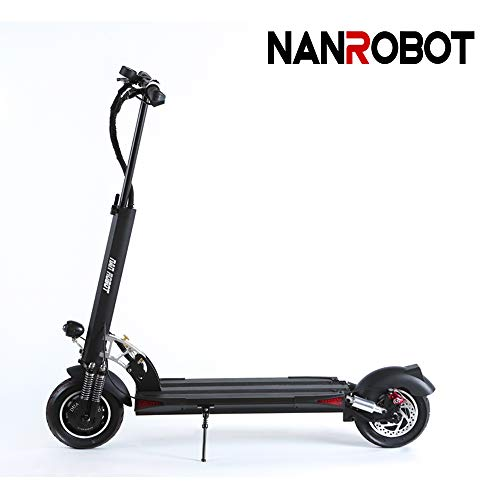 NanRobot D5+ Foldable Lightweight Adult 2000Watts Electric Scooter 52V Lithium Battery with Dual Disk Brakes Up to 60 Kilometer (52V26AH)