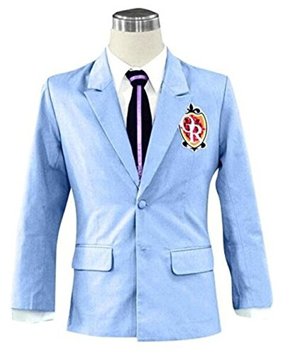 Expeke Teenager Unisex School Uniform Jackst Blazer Costume (US Size Small, Blue)