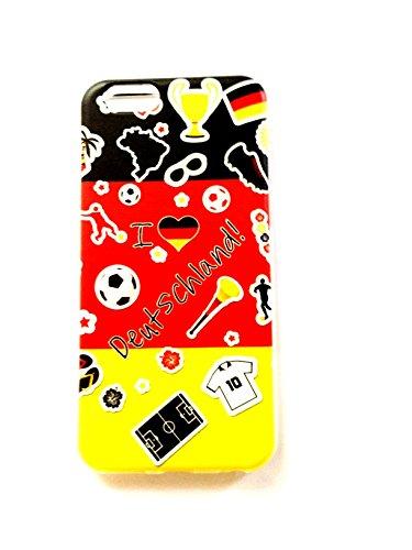 """Coque en TPU Housse Back Case Cover Silicone """"I Love Allemagne pour téléphone portable Apple iPhone 6Coque bumper"""