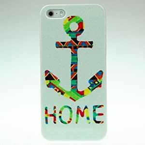 LZX Colorful HOME Letter Hard Case for iPhone 4/4S