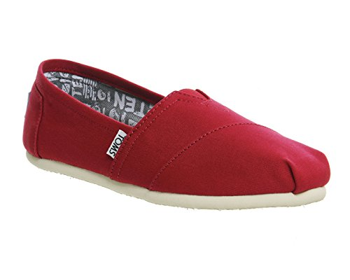 Canvas talla 1019B09R 5 Barberry Zapatos Sole 38 negro color Toms Rope Pink mujer para Eq8OO6