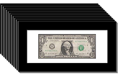 CreativePF [12pk$4x9bk-w] Black First Dollar Frame with White Matting, Easel Stand and Wall Hanger Included (12- Pack) by Creative Picture Frames
