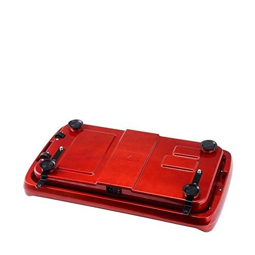 VibroSlim Tone Vibration Platform Fitness Machine, Oscillating Vibration Trainer + Free Workout DVD, Wall Chart & Resistance Bands (Red) by VibroSlim (Image #5)