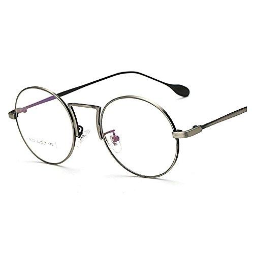 soleil de lunettes UV soleil TAC Anti Metal Blue lunettes Rimmed Simple Round Protection de de unisexes de hommes femmes pour Artistic lunettes lentilles lunettes Ray Frame ordinateur soleil Style Silver de It1twq
