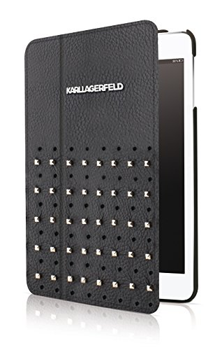 Karl Lagerfeld Trendy Collection Leather Studs Folio Case...
