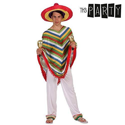 Atosa-12009 Atosa-12009-Disfraz Mejicano-Adulto XL- Hombre- blanco ...