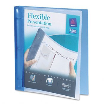 Avery® Flexible Round Ring Presentation Binder BNDR,FLEXI-VIEW 1