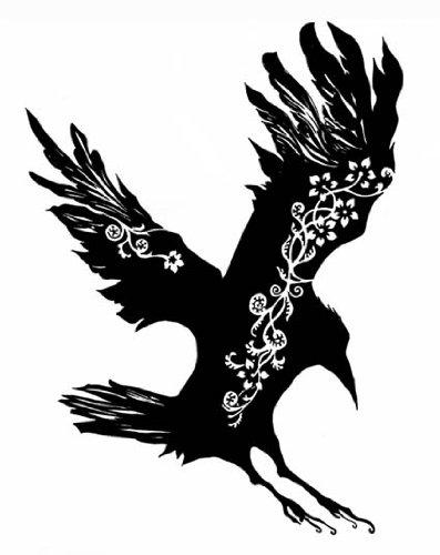 Exclusivo diseno de tatuaje de un cuervo, el pvc adhesivos ...
