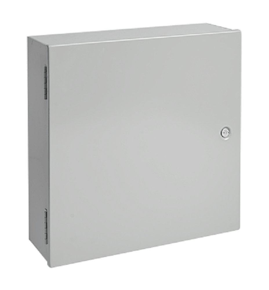 Hoffman A24N24ALP Medium Enclosure, NEMA 1, Steel, 24.00'' x 24.00'' x 6.62'', Gray