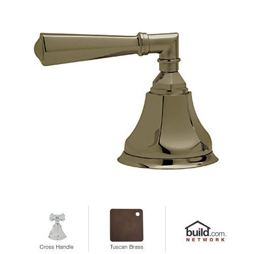 Rohl A1917XMTCB R942698 A1917Xm Palladian Deck Mounted 3-Port 2-Direction Diverter with Metal Cross, Tuscan (Palladian Palladian Deck)
