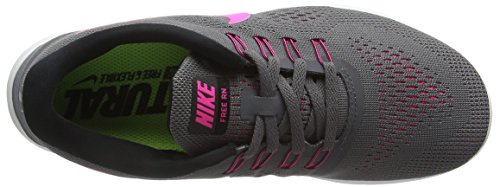 Nike Free Rn Scarpa Da Running - Noi Donne Taglie: 11, Couleurs: Grigio Scuro / Rosa Blast-black-cool Grigio