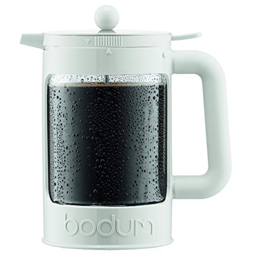 Bodum K11683-913US-1 BEAN Cold Brew Coffee Maker, 51 Oz, Bright White