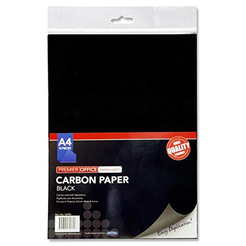 Premier Stationery H2756996 A4 Carbon Paper - Black (Pack of 10 Sheets)