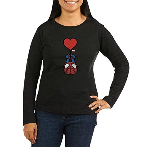 CafePress Spider-Man Heart - Women's Long Sleeve T-Shirt, Classic 100% Cotton Crew Neck Shirt