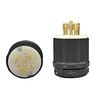 yuadon nema l21 20 grounding locking plug power connector 20a 120 rh amazon com L21- 20R Receptacle NEMA L6-15