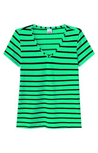 Blusa Listrada Malwee Feminino Verde