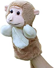 shlutesoy Parent Kids Cute Monkey Hand Puppet Soft Animal Pretend Play Stuffed Plush Toy Education Toy Pillow