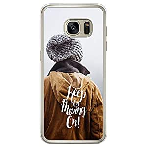 Loud Universe Samsung Galaxy S7 Edge Inspiration Keep on Moving on Printed Transparent Edge Case - Multi Color