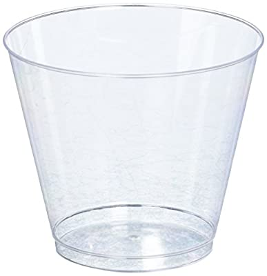 Amscan Plastic Tumblers, 5-Ounce, Clear, 88 Per Package