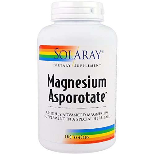 Solaray Magnesium Asporotate Supplement, 180 Count