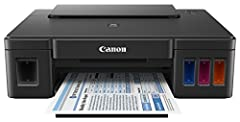 Introducing the Canon PIXMA G1200 MegaTank inkjet printer, an absolute mega performer. That's because the PIXMA G1200 printer replacement inks do the work of up to 30 conventional ink cartridge sets1. That translates to 6,000 razor sharp blac...