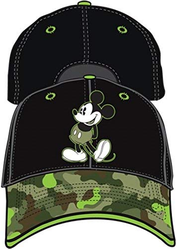Mickey Mouse Black and Camo Youth Baseball Hat