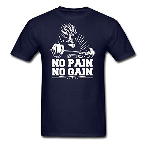 Buy tee's plus no pain no gain navy adult t-shirt
