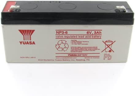Yuasa NP3-6 6V 3Ah Sealed Lead Acid Battery Replacement with F1 Terminals