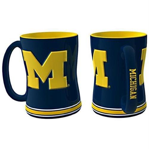 Michigan Wolverines NCAA Coffee Mug - 15oz Sculpted (Single Mug) - ()