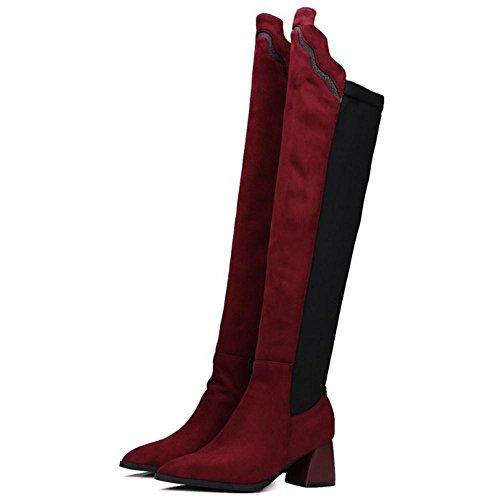 Stylish Boots 1 Knee Women KemeKiss Over Red Fw5BnRq
