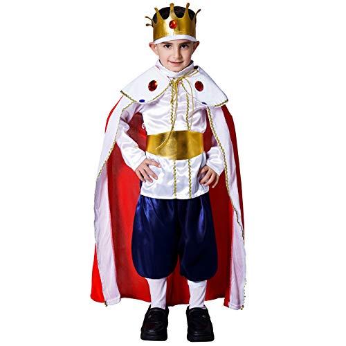 Boy's Deluxe Regal King Costume (S (4-6Y)) -