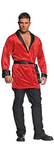 Underwraps Men's Smoking Jacket, Red/Black, One