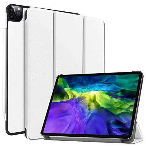 Smart Case for New iPad Pro 11 inch 2020 Case 2nd Generation, Ratesell Lightweight Smart Trifold Stand Case Cover with Auto Sleep/Wake for iPad Pro 11 2020/2018 / Model A2068, A2230 White