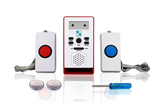 Cuidador busca hogar alarma zumbador sistema LLR-10 - 2 Wireless ayuda botones incluido 32 sonidos de la melodía/de la alarma para elegir. Casa llamada paciente alerta Pager