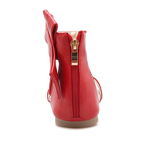 1TO9 Womens Non-Marking Cold Lining Dress Urethane Sandals MJS03228 Red fgHG4