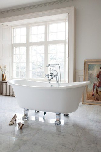 Casa Padrino Nouveau bath stone freestanding 1700mm BCHA White - Freestanding Retro antique