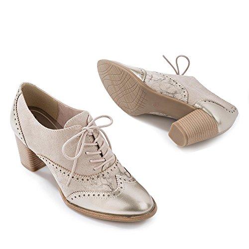 Marco Tozzi , Chaussures de ville à lacets pour femme Beige