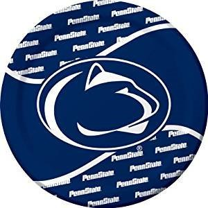 Penn State Nittany Lion Party Bundle 9'' Plates (16) Napkins (20) by NCAA Creative Converting