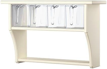IKEA STENSTORP - Estantería de pared con cajones, blanco - 60x37 cm