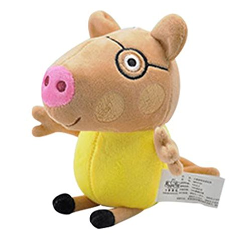 Adorable Original Plush Peppa Pig Family & Friends Pack of 10 Plush Toys Characters (Pedro) Adorable Pig