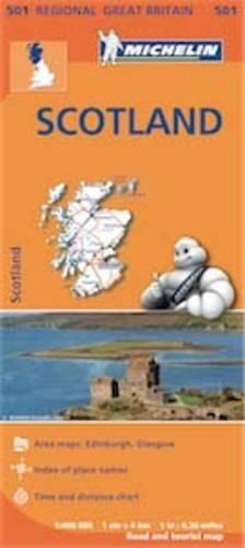 Scotland - Michelin Regional Map 501 (Michelin Regional Maps)