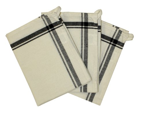 - Aunt Martha's 3-Pack Retro Black Striped Dish Towels, 18 by 28-Inch