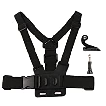 Chest Mount Harness Sunsbell Chest Belt Strap for Gopro Hero 5, 4, 3+, 3, 2, 1, SJCAM SJ4000, SJ5000 SJ6000 Xiaomi Yi and other Action Camera