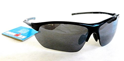 (2 PACK) Foster Grant Ironman Finish Line Sunglasses (1031) 100% UVA & UVB Protection-Shatter - With Lines Sunglasses