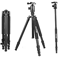 Zomei Z818 Professional Camera Tripod Monopod With Ball Head / Quick Release Plate and Carring Case ( Black )