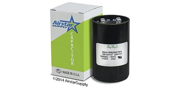 NEW Motor Start Capacitor 189-227 MFD 220 250 VAC Volt Supco CS189-227X220