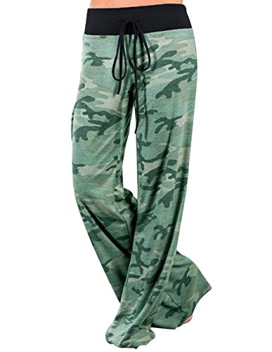 Buauty Womens Yoga Pajama Pants Wide Leg Sleepwear Casual Loose Lounge Pants Camouflage