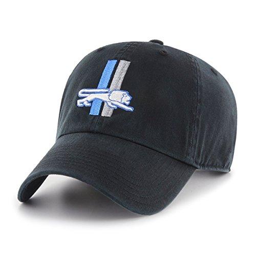 OTS NFL Detroit Lions Legacy Challenger Adjustable Hat, One Size, Black