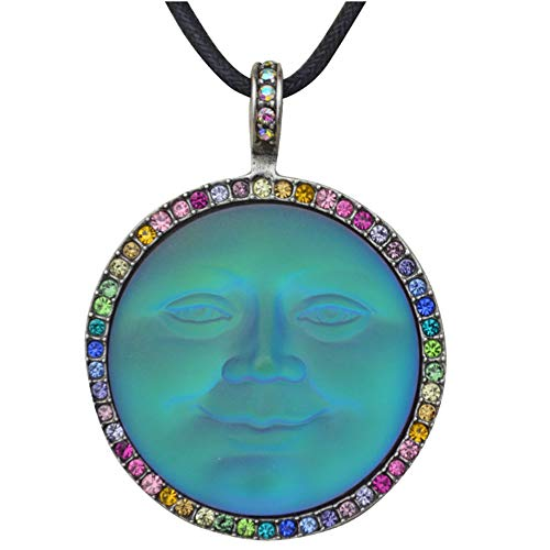 (Kirks Folly Rainbow Memories Seaview Moon Cord Necklace silvertone)