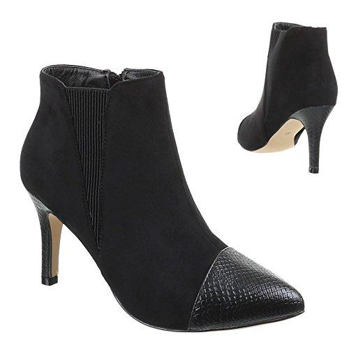 negro de Sintético para Negro Design Ital Botas Material mujer 684Hw